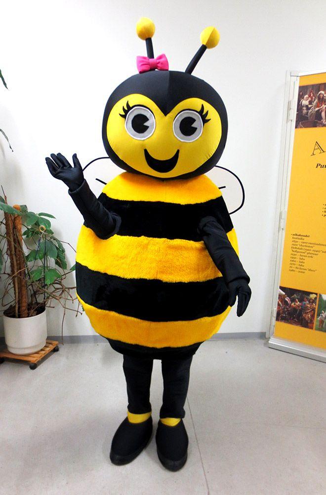 Kauppakeskus Skanssin Hani mehiläinen maskotti