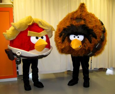 Rovion Angry Birds Star Wars hahmot Luke Skywalker ja Chewbacca