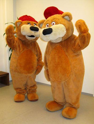 Kontiolahden MM-kisojen maskotit Nelly ja Nalle