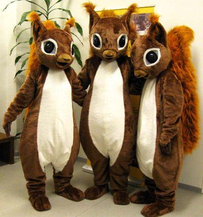Serlan maskotti oravat