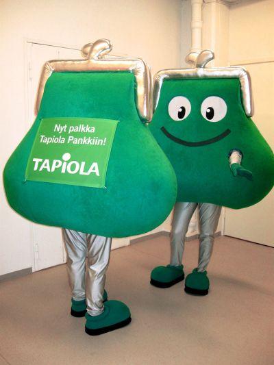 Tapiola-pankin palkkapussi maskotti