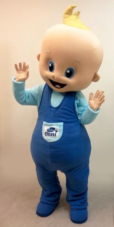 Valio-Onni lastenruokien maskotti vauva