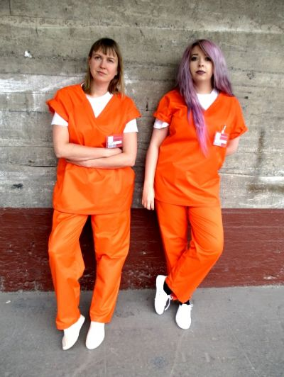 Artistiasu vuokrapuku orange is the new black -vanginasu