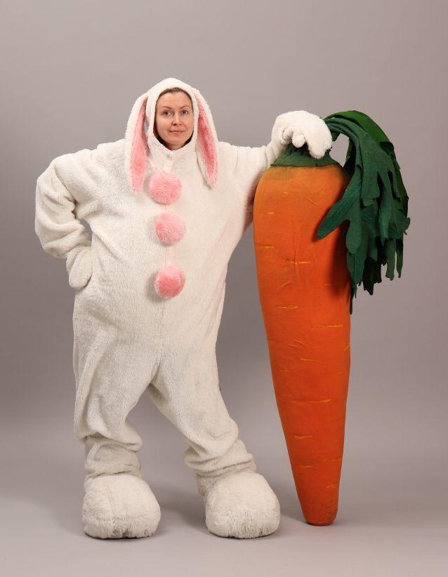 Artistiasu vuokrapuku, pupu & porkkana