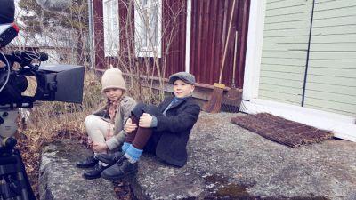 Artistiasu vuokrapuku lasten vaate kuvauksissa, Malaktafilms