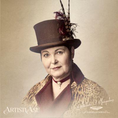 Artistiasu vuokrapuku puvustus, kuva: Atelieri O. Haapala