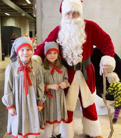 Artistiasu vuokrapuku joulupukin asu ja tonttutytöt