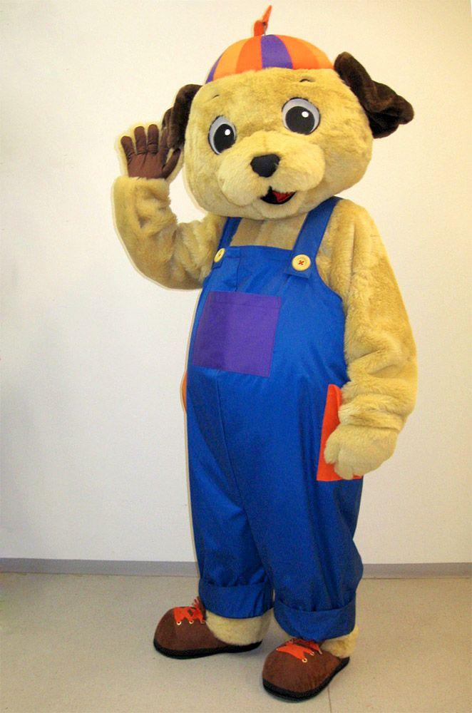Lelukulman Luffe-koira maskotti tilaustyö