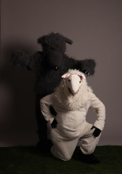 Artistiasu vuokrapuku lammas ja susi