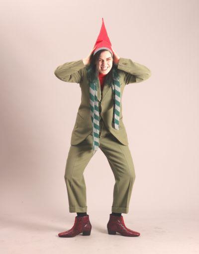 Artistiasu vuokrapuku, joulutonttu vihreässä puvussa